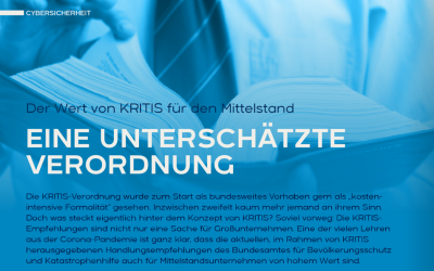 Kritische Infrastruktur NRW – Der Wert von KRITIS für den Mittelstand