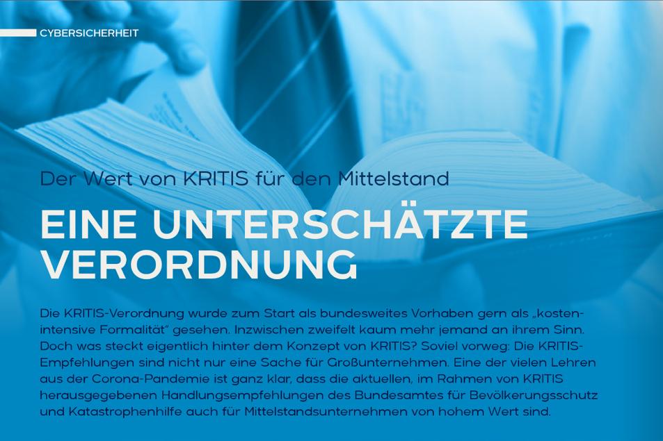 KRITIS - eine unterschätzte Verordnung